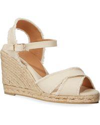 Castaner - Women's Bromelia Crisscross Platform Wedge Espadrille Sandals - Lyst