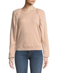 Joie - Korbyn Puff-sleeve Cotton Crewneck Pullover Sweatshirt - Lyst