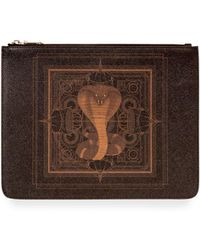 Givenchy - Men's Coated Canvas Cobra-print Pouch - Lyst