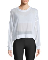 Alo Yoga - Ambience Long-sleeve Mesh Pullover Top - Lyst