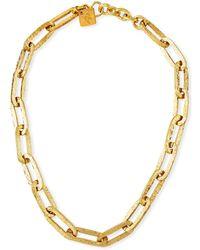 Ashley Pittman - Dini Bronze-link Necklace - Lyst