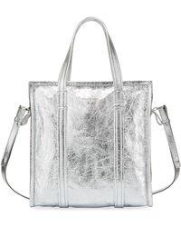 Balenciaga - Bazar Shopper Small Aj Metallic Leather Tote Bag - Lyst