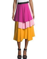 Novis - The York Layered Midi Skirt - Lyst