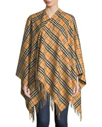 Burberry - Vintage Check Collette Cape - Lyst