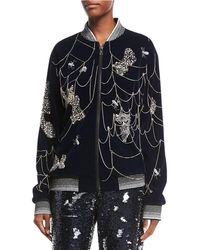 Libertine - Spider Web-embroidered Bomber Jacket - Lyst