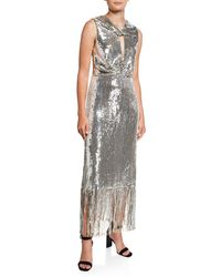 6ccbd9f1 Parker Black Petra 3/4-sleeve Sequined Cocktail Dress in Metallic - Lyst