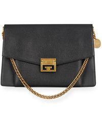 fa8804d055ab Givenchy - Gv3 Medium Pebbled Leather Shoulder Bag - Golden Hardware - Lyst