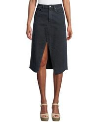 DL1961 - Georgia Split-front Denim Midi Skirt - Lyst