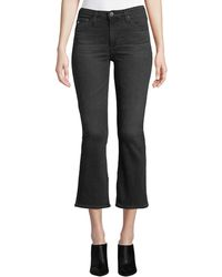 AG Jeans - Jodi High-rise Cropped Flare-leg Jeans - Lyst