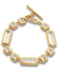 Monica Rich Kosann - Yellow Gold Crystal Mosaic Bracelet - Lyst