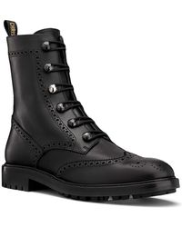 Dior - Unit Preforated Calfskin Leather Ankle Boot - Lyst