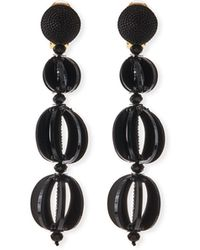 Oscar de la Renta - Spliced Globe Statement Clip-on Earrings - Lyst