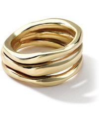 Ippolita - 18k Gold Glamazon Triple-squiggle Ring - Lyst
