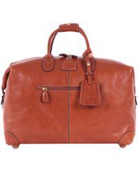 "Bric's - Pelle Cognac 18"" Cargo Duffel Luggage - Lyst"