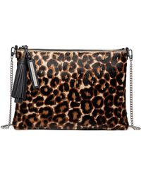 Loeffler Randall - Leopard-print Fur Tassel Pouch Bag - Lyst