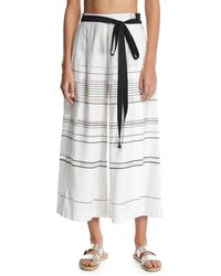 Proenza Schouler - High-waist Striped Palazzo Coverup Pants - Lyst