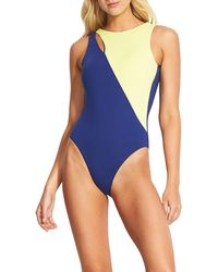 Seafolly - Splice High-neck Maillot One-piece Swimsuit - Lyst