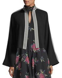 Nanette Lepore - Me Gusta Striped-trim Jacket - Lyst