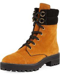 Stuart Weitzman - Lexy Suede Lace-up Hiker Boots - Lyst