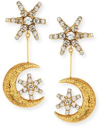 Jennifer Behr - Atlas Star & Moon Drop Earrings - Lyst