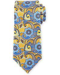 Ermenegildo Zegna - Printed Paisley Silk Tie - Lyst
