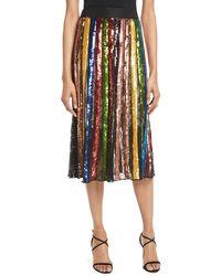 Alice + Olivia - Tianna High-rise Sequin Lace Midi Skirt - Lyst