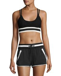 BLANC NOIR - Ballet Wrap Sports Bra Top - Lyst