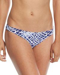 Letarte - Printed Hipster Moderate Coverage Swim Bikini Bottom - Lyst