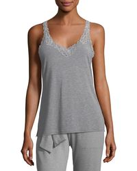 Natori - Feathers Lace-trim Tank - Lyst