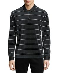 Vince - Men's Long-sleeve Rugby-stripe Polo Shirt - Lyst
