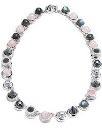 Eddie Borgo | Collage Hematite & Rose Quartz Cabochon Necklace | Lyst