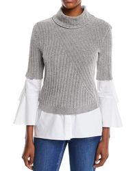 ade070c6f81 Lyst - Elie Tahari Torrence Cashmere Cold-shoulder Sweater