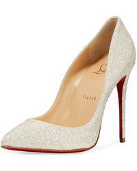 Christian Louboutin - Pigalle Follies Glittered Red Sole Pump - Lyst