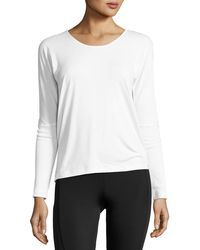 Onzie - Drapey V-back Long-sleeve Tee - Lyst