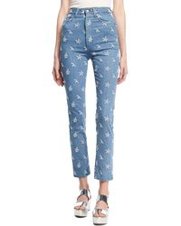 Marc Jacobs - Lace-embroidered Straight-leg Jeans - Lyst