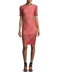 Alexis | Remi Short-sleeve Lace Sheath Dress | Lyst