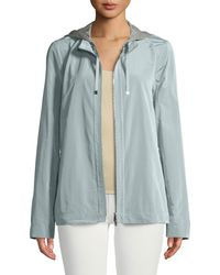 Lafayette 148 New York - Ventura Empirical Tech-cloth Jacket W/ Zip-out Hoodie - Lyst