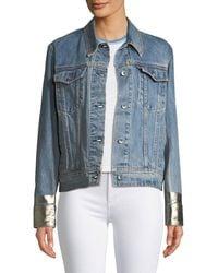 Rag & Bone - Oversized Denim Jacket W/ Metallic Cuffs - Lyst