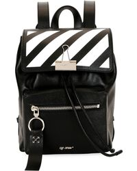 Off-White c/o Virgil Abloh - Printed Leather Backpack - Lyst
