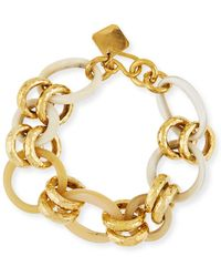 Ashley Pittman - Horn & Bronze Link Chain Bracelet - Lyst