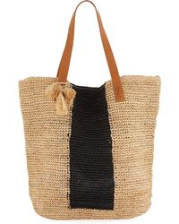 Seafolly | Carried Away Sandy Linen Beach Tote Bag | Lyst