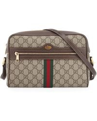31a111ce28b Gucci - Ophidia Medium GG Supreme Camera Crossbody Bag - Lyst