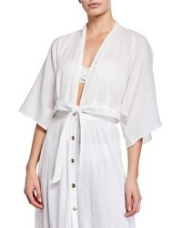 Melissa Odabash - Mila Tie-front Cropped Coverup Top - Lyst