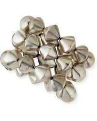 Nest - Silver Cone Stretch Bracelets - Lyst