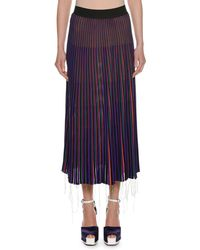 Marni - Striped Pleated Skirt - Lyst