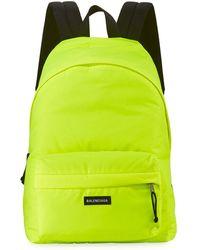 Balenciaga - Yellow Neon Explorer Logo Backpack - Lyst