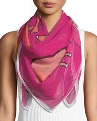 Anna Coroneo - Cool Camels Silk Scarf - Lyst