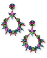 Ranjana Khan - Oversized Crystal Statement Earrings - Lyst