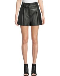 3.1 Phillip Lim High-waist Leather Shorts