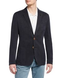 Giorgio Armani - Men's Tonal Pinstripe Cupro Two-button Jacket - Lyst